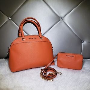 Michael Kors Emmy Dome Satchel With Wallet